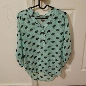 Light blue heart shirt